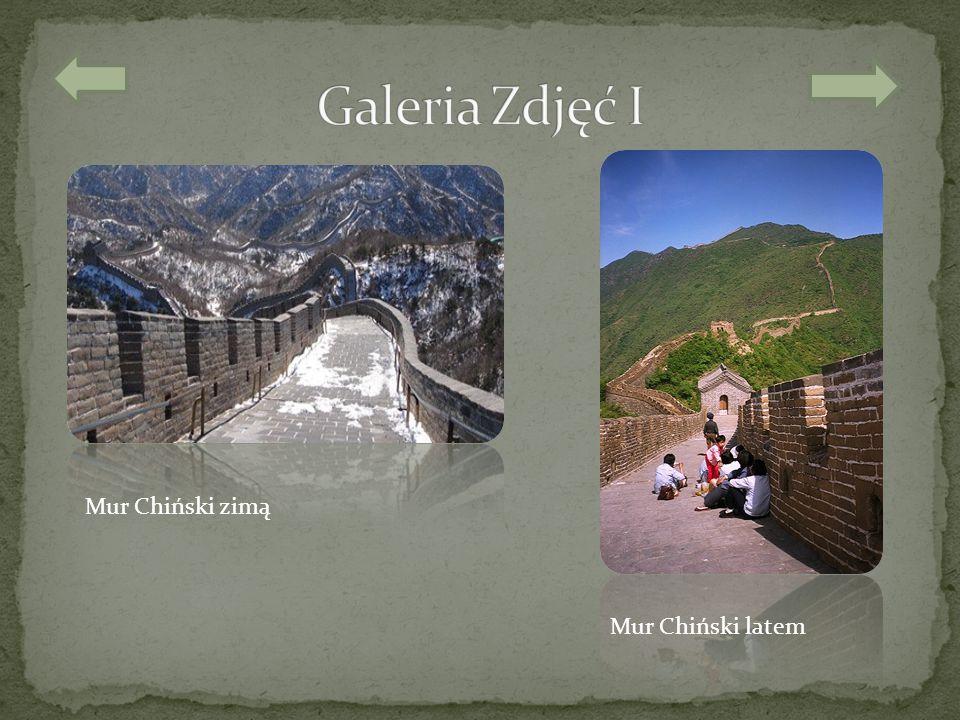 Mur Chiński zimą Mur Chiński latem