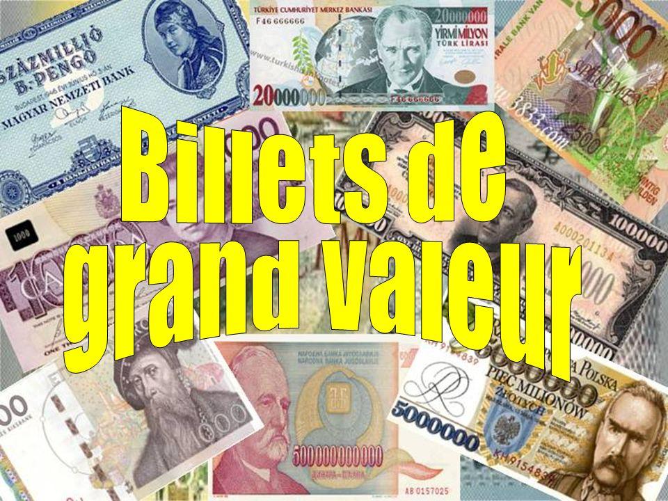Największy nominał banknotu na świecie Wszystkie banknoty są wycofane