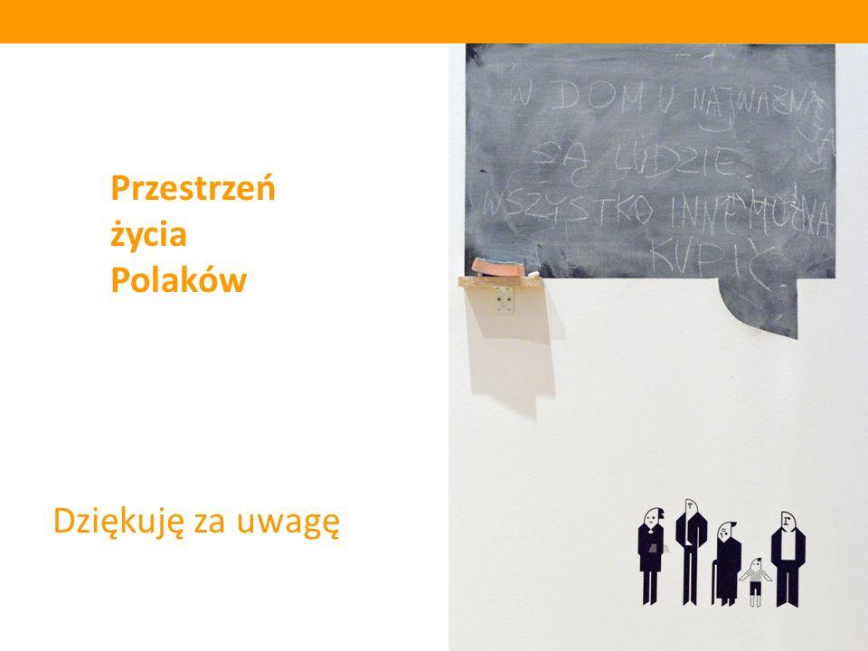 Dziękuję za uwagę Przestrzeń życia Polaków