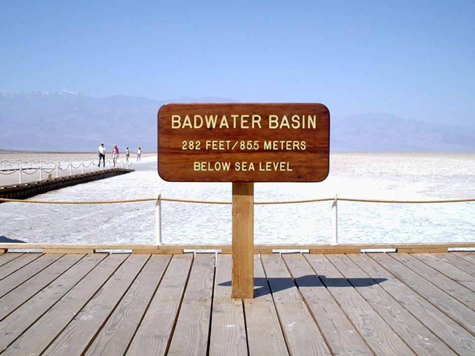 Badwater (Zła woda) to wyschnięte jezioro położone 85,5 m poniżej poziomu morza.