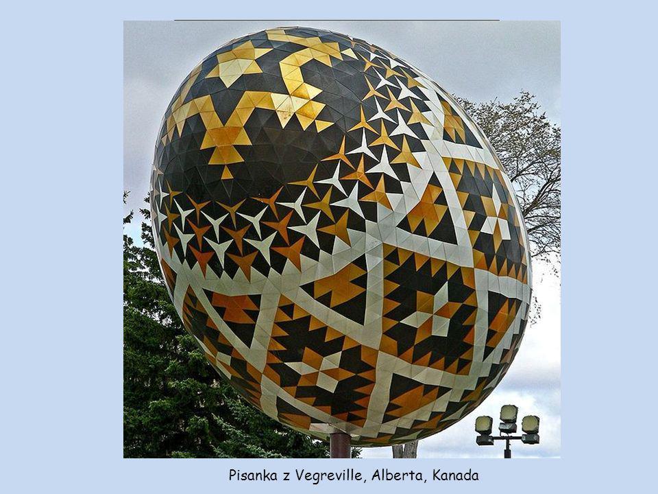 Pysanka-Pisanka, Vegreville, Alberta (Kanada).Pisanka ukraińska