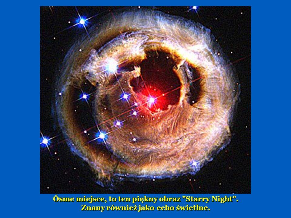 Na siódmej pozycji, znajdziemy część Mgławicy Łabędzia, 5.500 lat świetlnych, określanej jako ocean wodoru z niewielką ilością tlenu, siarki i innych elementów.