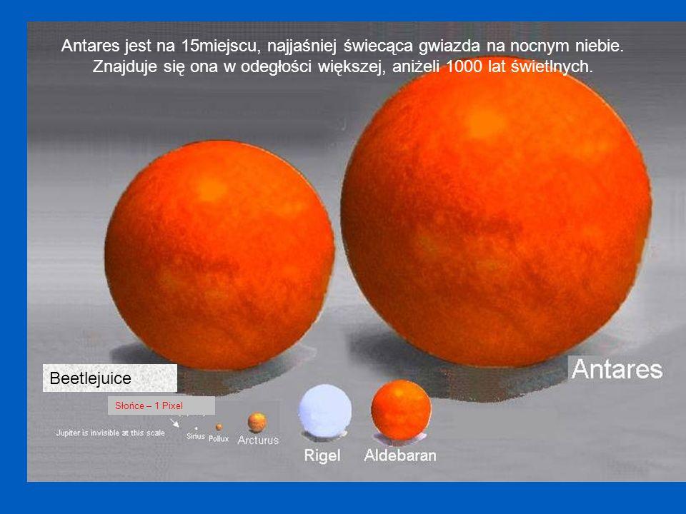 Nasze Słońce Sirius Arturus Jupiter wielkości 1 Pixel, punkt na strzałce.