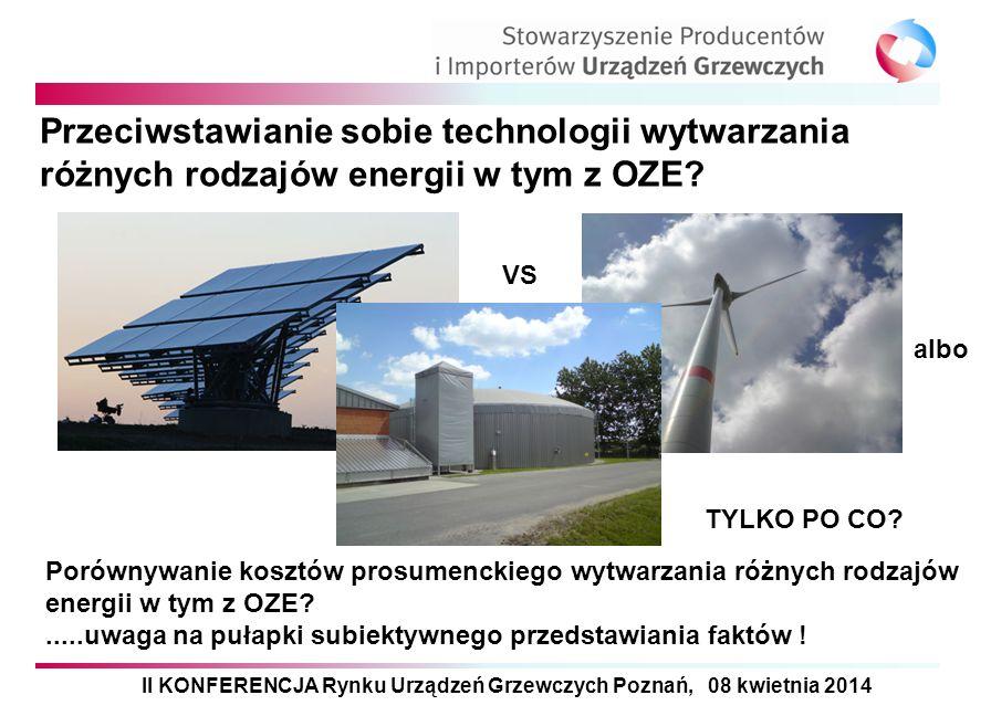Przeciwstawianie sobie technologii wytwarzania różnych rodzajów energii w tym z OZE? Porównywanie kosztów prosumenckiego wytwarzania różnych rodzajów