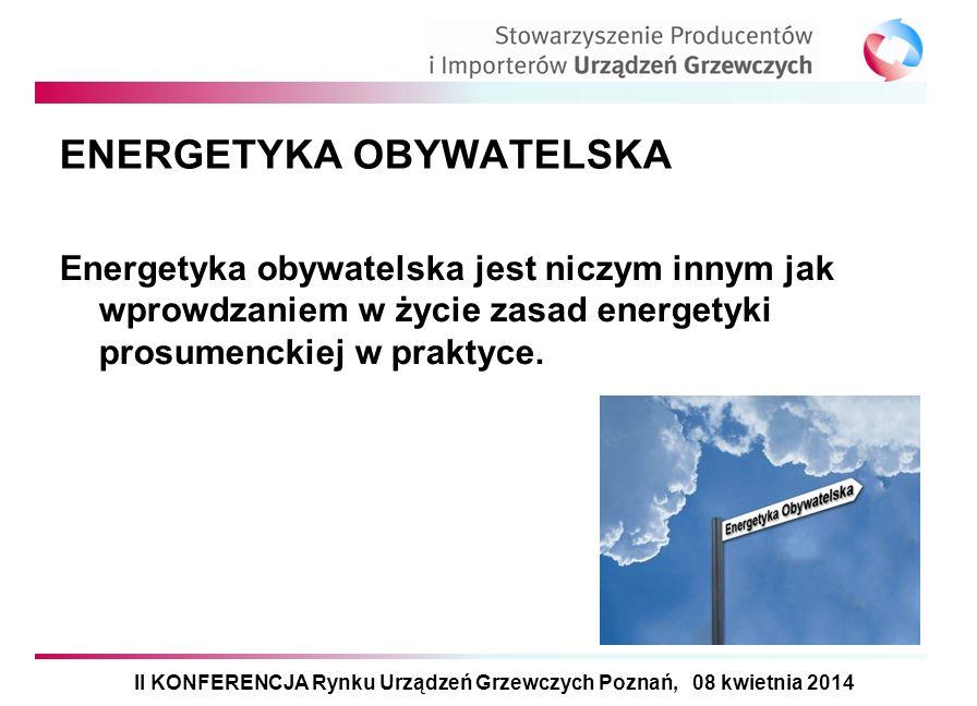 ENERGETYKA OBYWATELSKA Energetyka obywatelska jest niczym innym jak wprowdzaniem w życie zasad energetyki prosumenckiej w praktyce. II KONFERENCJA Ryn