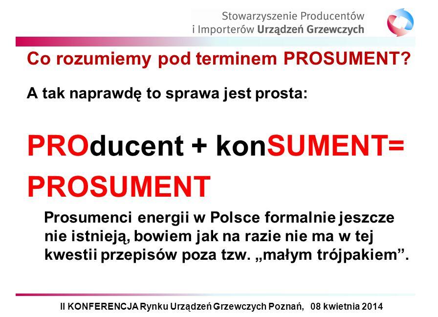 Co rozumiemy pod terminem PROSUMENT? A tak naprawdę to sprawa jest prosta: PROducent + konSUMENT= PROSUMENT Prosumenci energii w Polsce formalnie jesz
