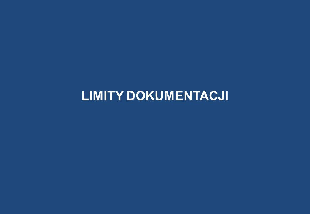 LIMITY DOKUMENTACJI