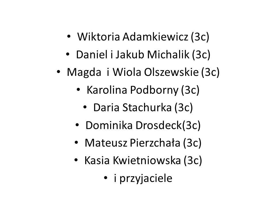 Wystąpili Sebastian Kubeczko (3c) Paweł Iskra (3c) Jakub Markiewicz (3c) Marcin Kuchta (3c) Nicole Bałdys (3c) Katarzyna Suchy (3c) Klaudia Pyrsz (3c)