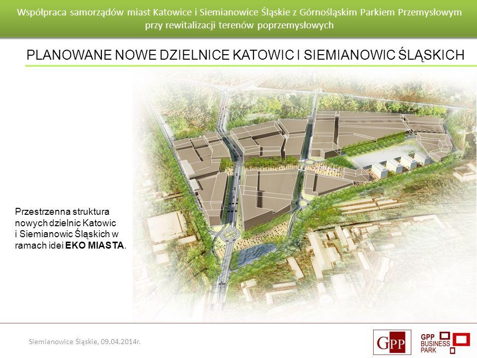 Wnioski po pierwszym roku eksploatacji budynku Goeppert - Mayer Siemianowice Śląskie, 09.04.2014r. Przestrzenna struktura nowych dzielnic Katowic i Si