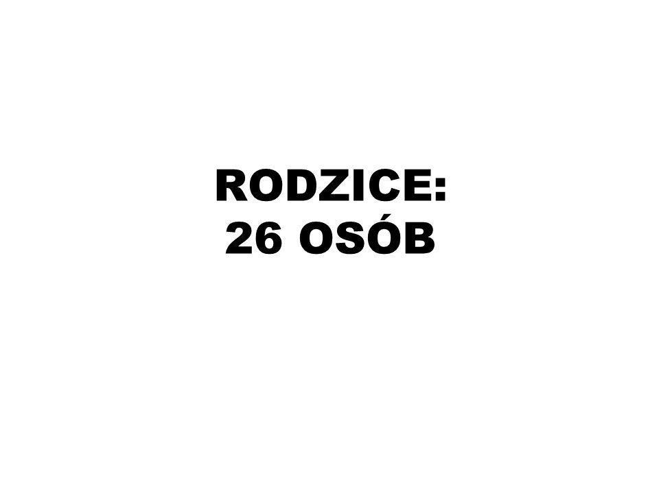 RODZICE: 26 OSÓB