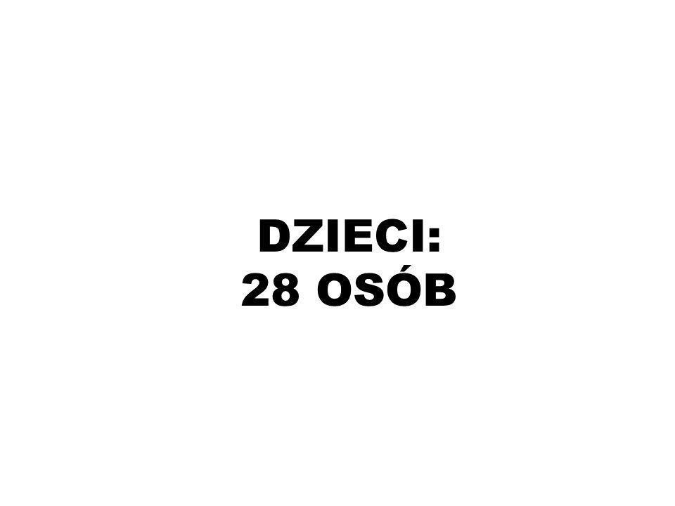 DZIECI: 28 OSÓB