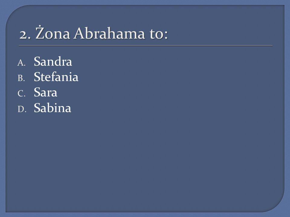 7.Gdy Abraham i Sara nie mogli doczekać się potomka: A.