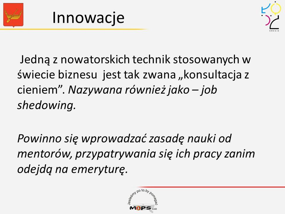 Innowacje Jedną z nowatorskich technik stosowanych w świecie biznesu jest tak zwana konsultacja z cieniem. Nazywana również jako – job shedowing. Powi