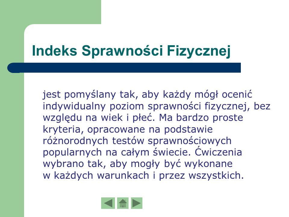 Indeks Sprawności Fizycznej K. Zuchory. Ocena sprawności dla uczniów