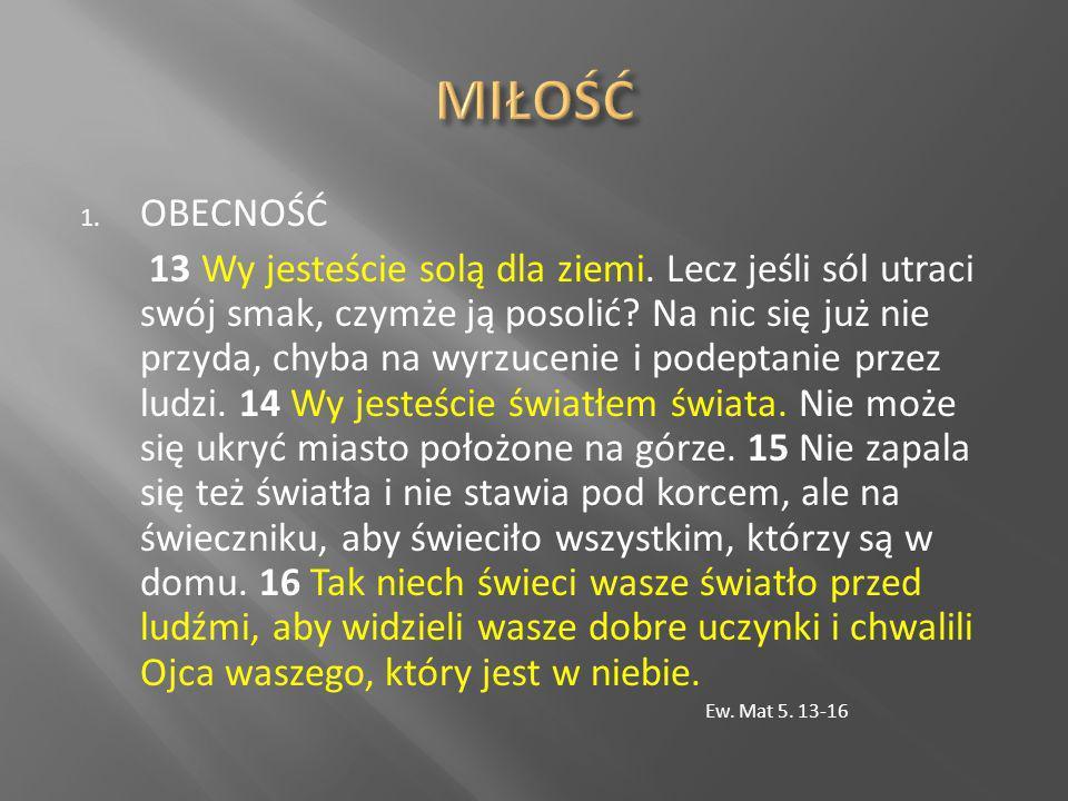1 Tak samo żony niech będą poddane swoim mężom, aby nawet wtedy, gdy niektórzy z nich nie słuchają nauki, przez samo postępowanie żon zostali [dla wiary] pozyskani bez nauki, 2 gdy będą się przypatrywali waszemu, pełnemu bojaźni, świętemu postępowaniu 1.Piotr 3.1-2