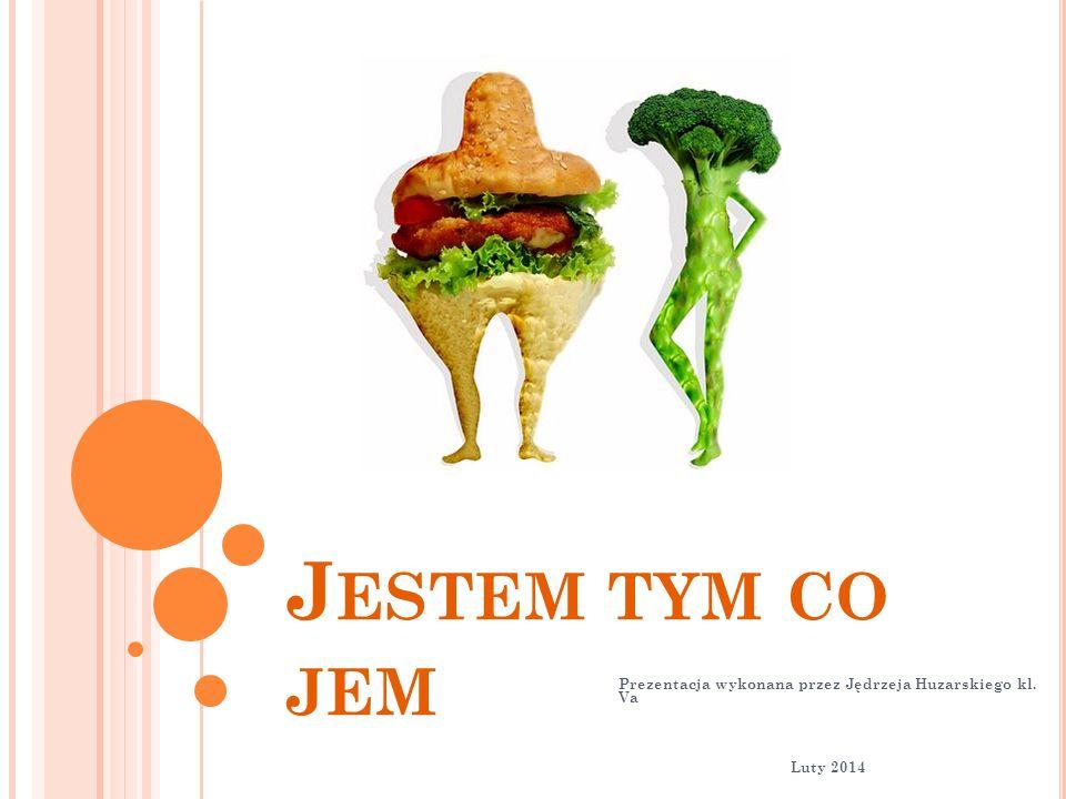 J ESTEM TYM CO JEM Prezentacja wykonana przez Jędrzeja Huzarskiego kl. Va Luty 2014