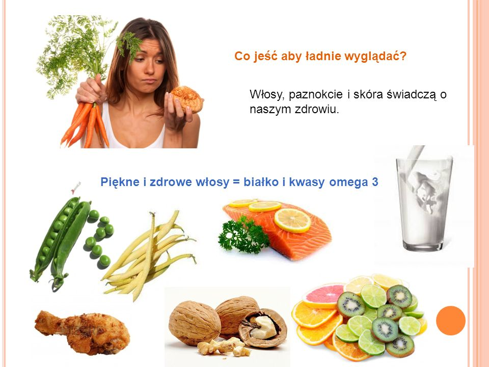 Co jeść aby ładnie wyglądać? Włosy, paznokcie i skóra świadczą o naszym zdrowiu. Piękne i zdrowe włosy = białko i kwasy omega 3