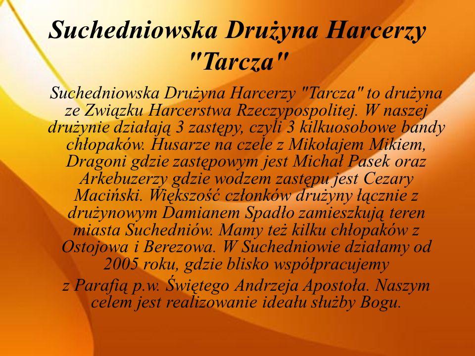 Suchedniowska Drużyna Harcerzy Tarcza Suchedniowska Drużyna Harcerzy Tarcza to drużyna ze Związku Harcerstwa Rzeczypospolitej.