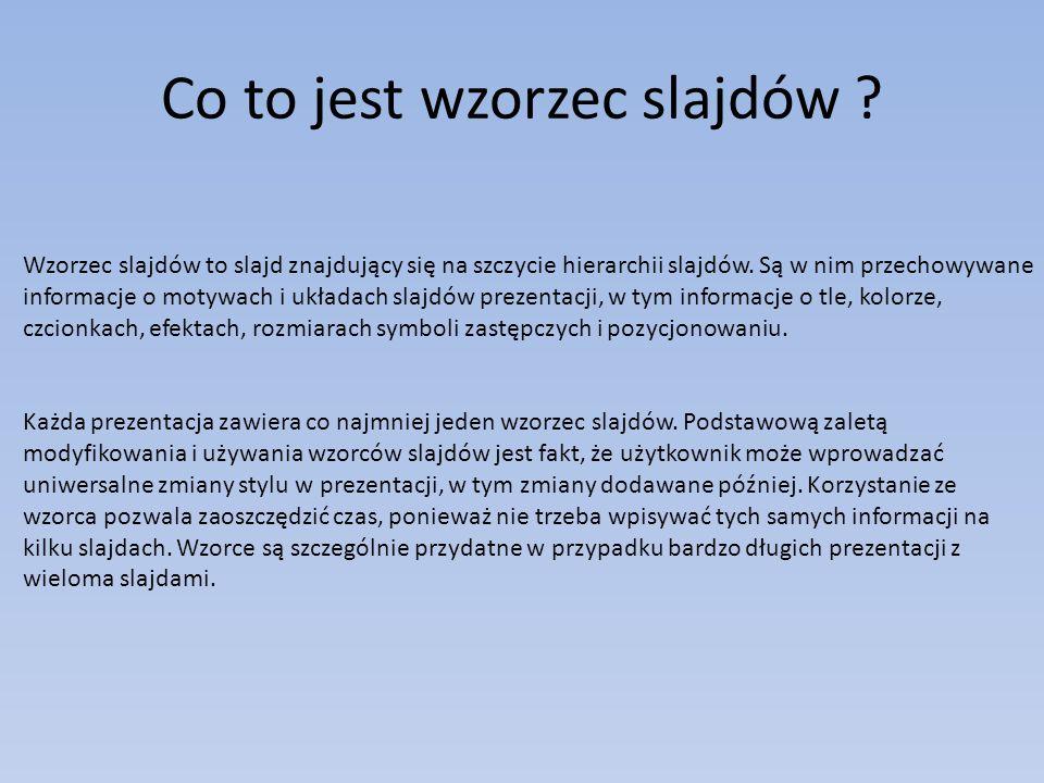 Co to jest wzorzec slajdów .
