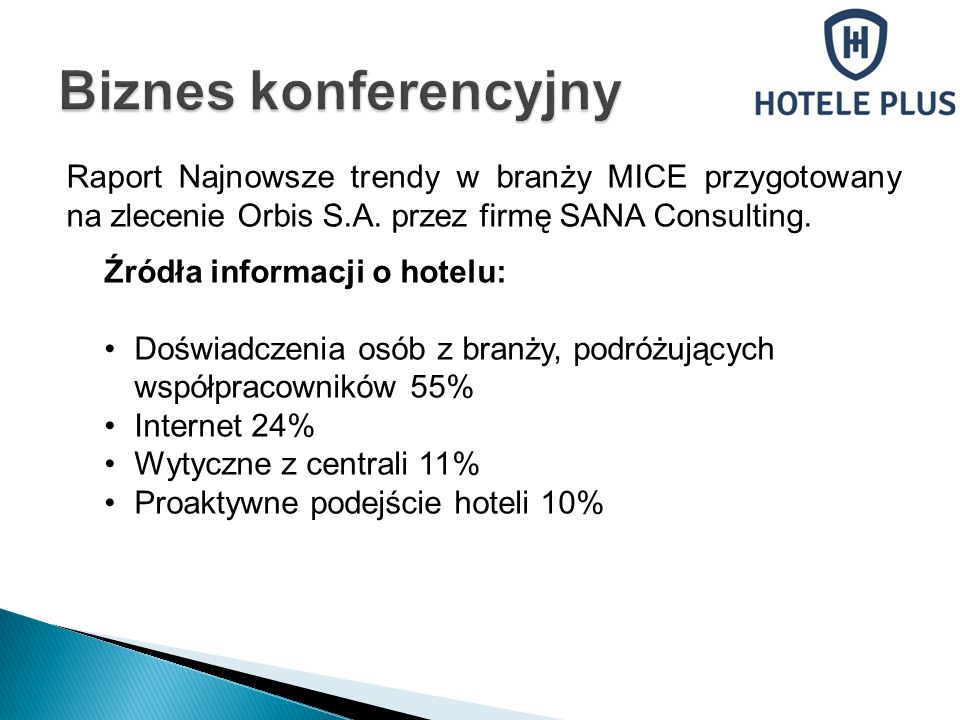 Raport Najnowsze trendy w branży MICE przygotowany na zlecenie Orbis S.A.
