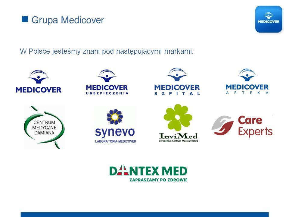 Grupa Medicover W Polsce jesteśmy znani pod następującymi markami: