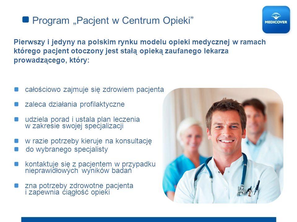 Program Pacjent w Centrum Opieki Pierwszy i jedyny na polskim rynku modelu opieki medycznej w ramach którego pacjent otoczony jest stałą opieką zaufan