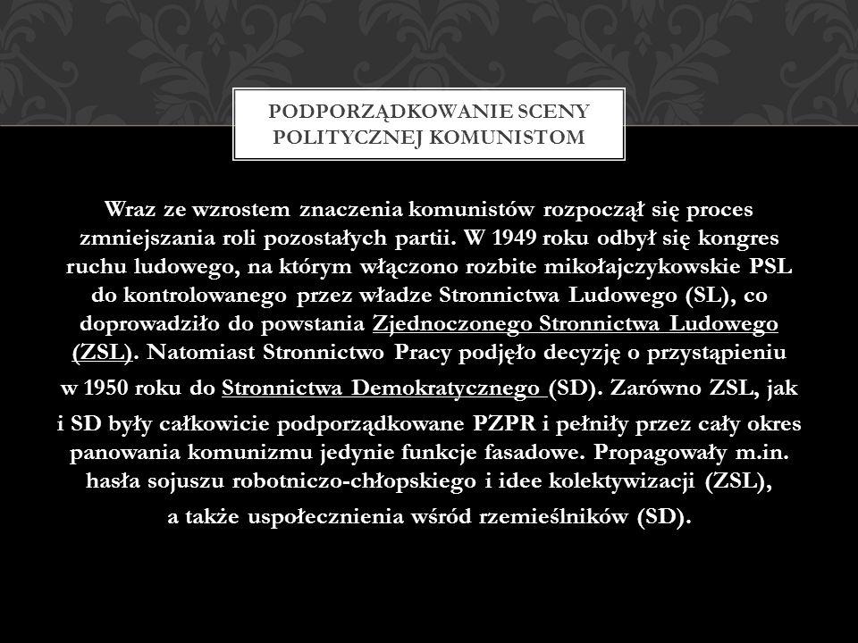 Jednym z przejawów wprowadzania w Polsce sowieckiego modelu komunizmu było oddawanie czci Stalinowi.