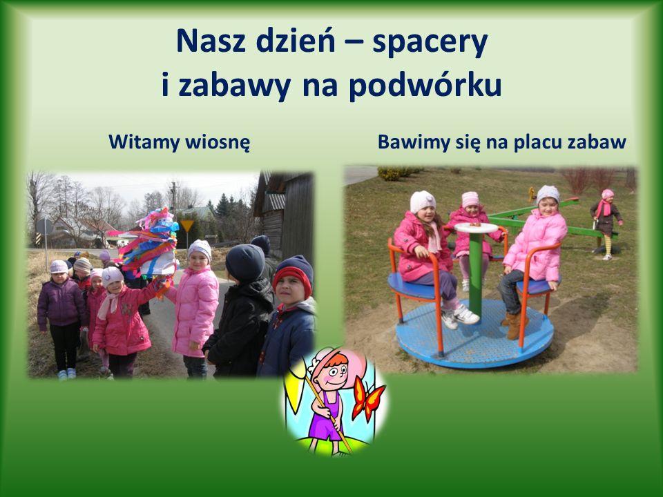 Nasz dzień – spacery i zabawy na podwórku Witamy wiosnę Bawimy się na placu zabaw