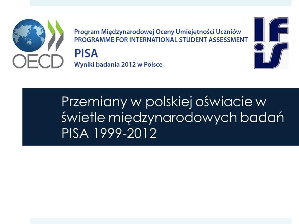 Przemiany w polskiej oświacie w świetle międzynarodowych badań PISA 1999-2012