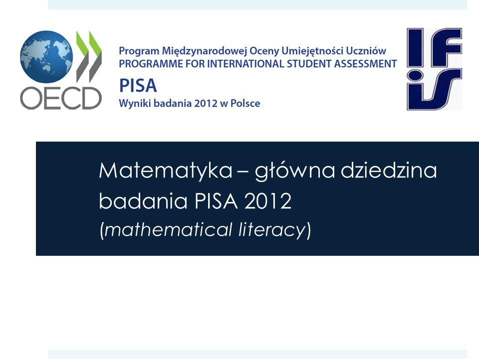 PISA a podstawa programowa ( … ) Rozwiązując problemy, uczniowie wykorzystują umiejętność matematyzowania, myślenia strategicznego oraz rozumowania i argumentacji.