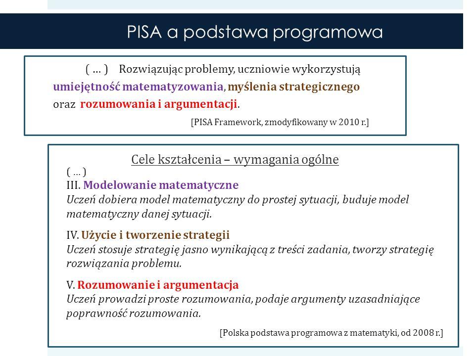 Jak PISA mierzy umiejętności matematyczne.Pierwszy główny pomiar odbył się w 2003 roku.