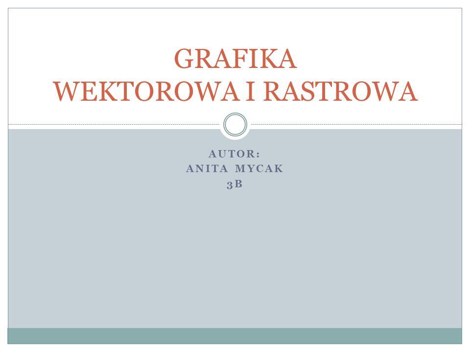 AUTOR: ANITA MYCAK 3B GRAFIKA WEKTOROWA I RASTROWA