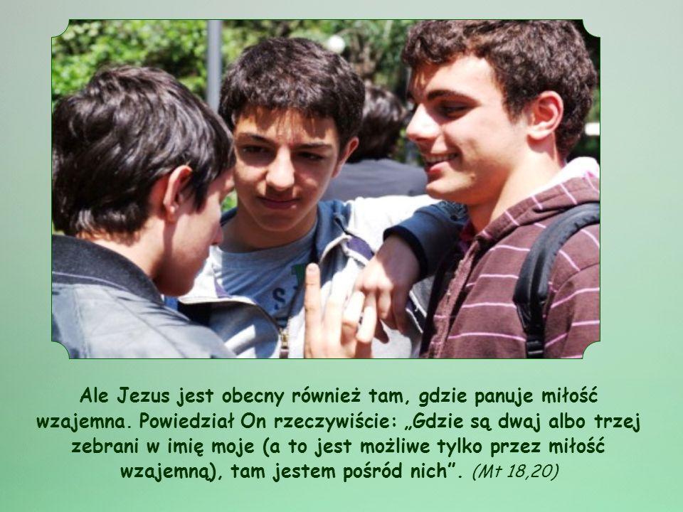 Wiesz, że Jezus jest obecny w sakramentach; na przykład staje się obecny w Eucharystii, w czasie Mszy św.