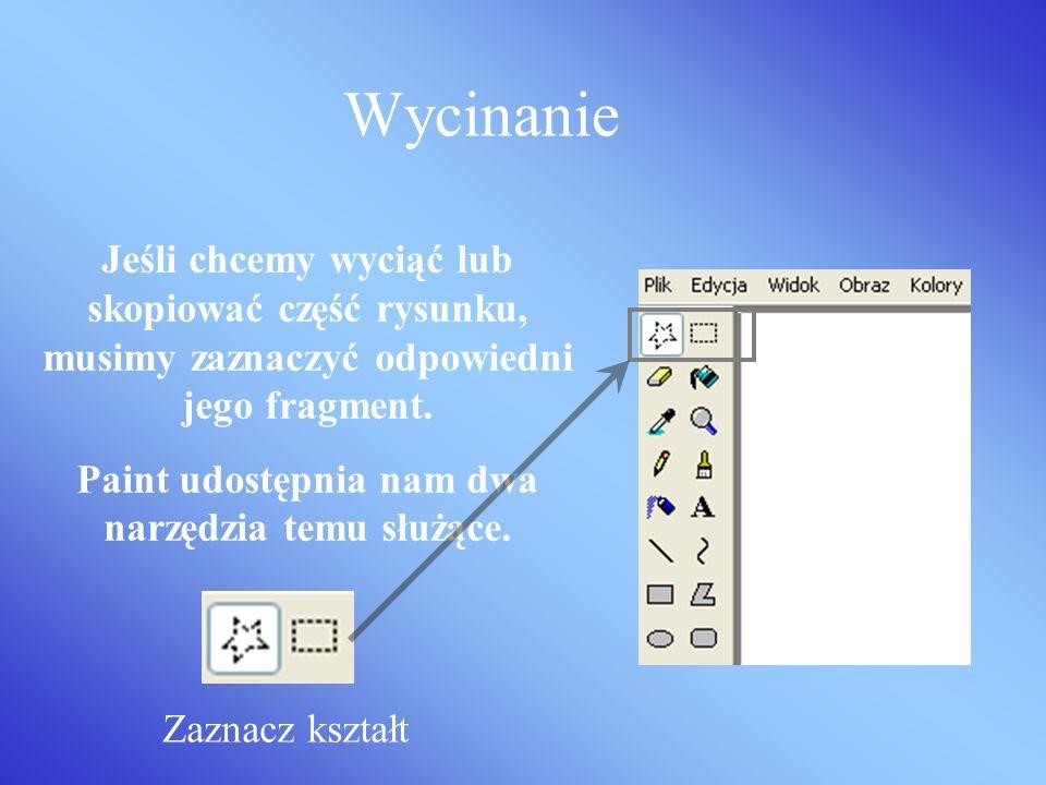 Tekst w Paint Aby wprowadzić tekst do naszego rysunku wybieramy ikonkę. Pojawi nam się pasek formatowania tekstu.