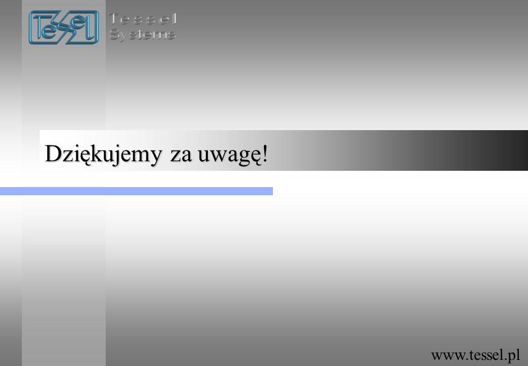 Dziękujemy za uwagę! www.tessel.pl