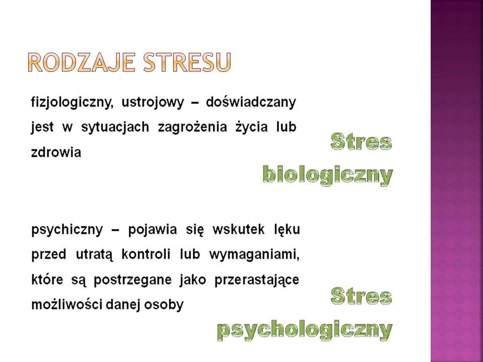 Stres towarzyszy ludziom w ciągu całego ich życia.