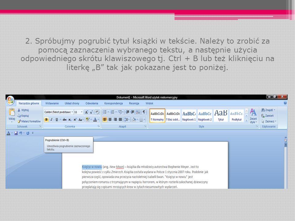 Przybliżone zostały pokrótce najważniejsze reguły formatowania tekstu w programie Microsoft Word.