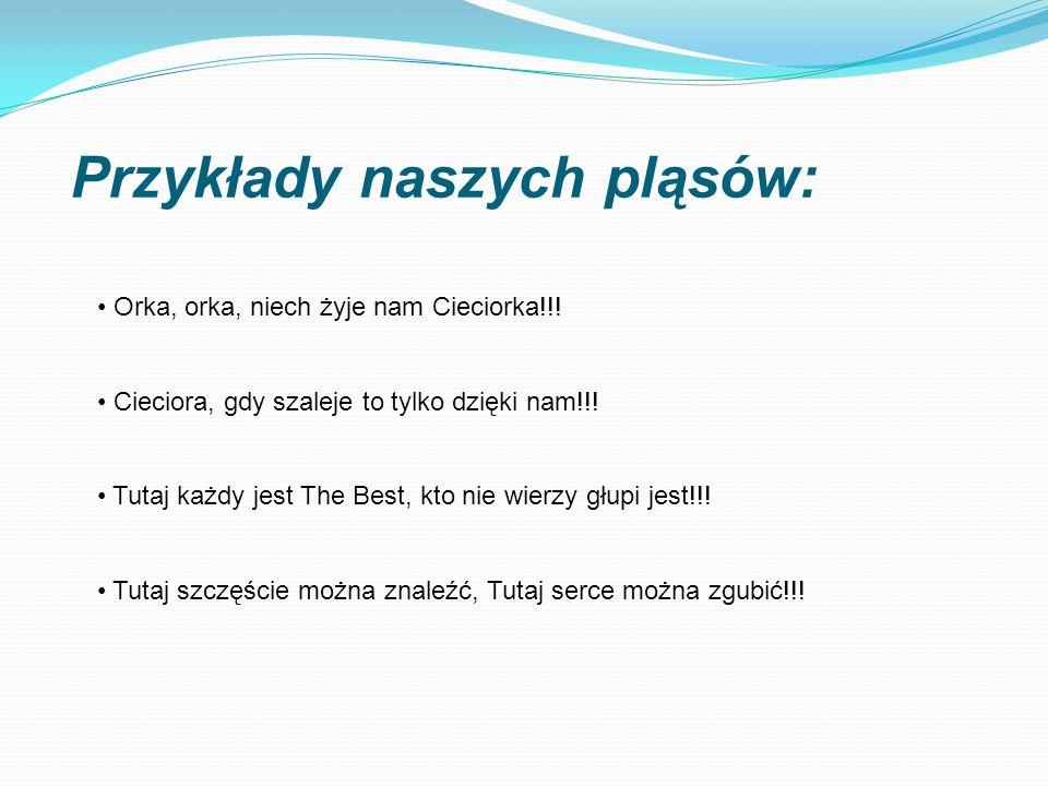 Przykłady naszych pląsów: Orka, orka, niech żyje nam Cieciorka!!.