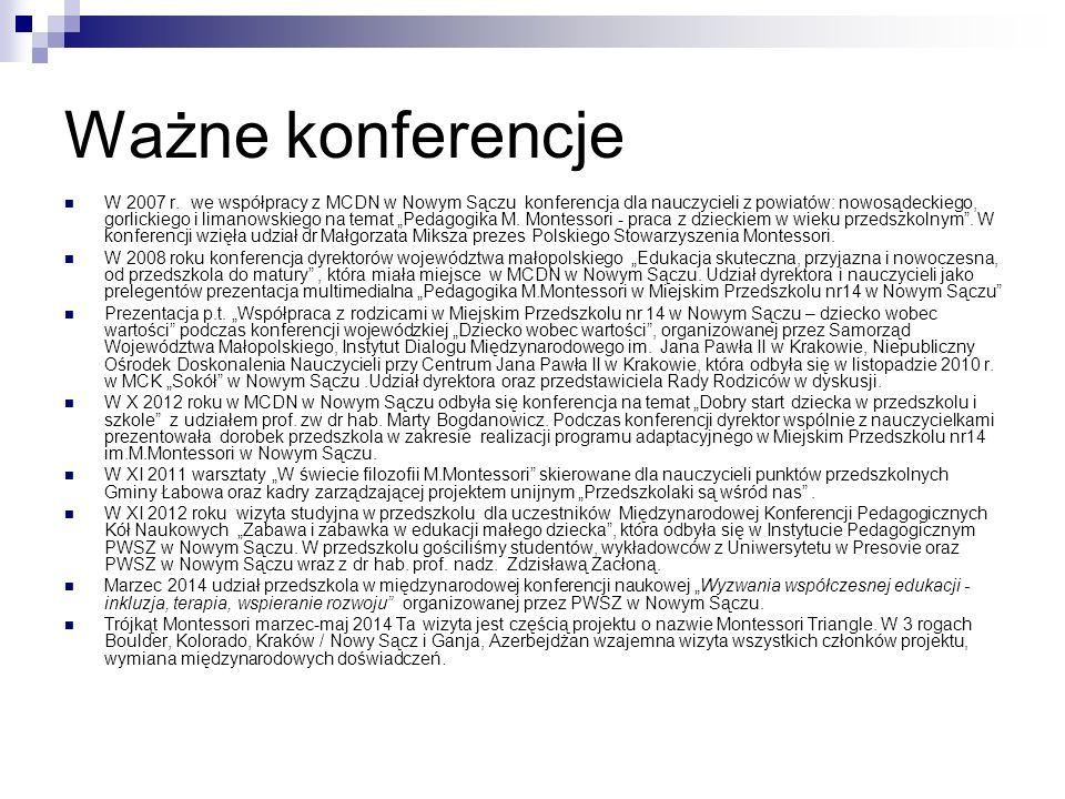 Ważne konferencje W 2007 r.