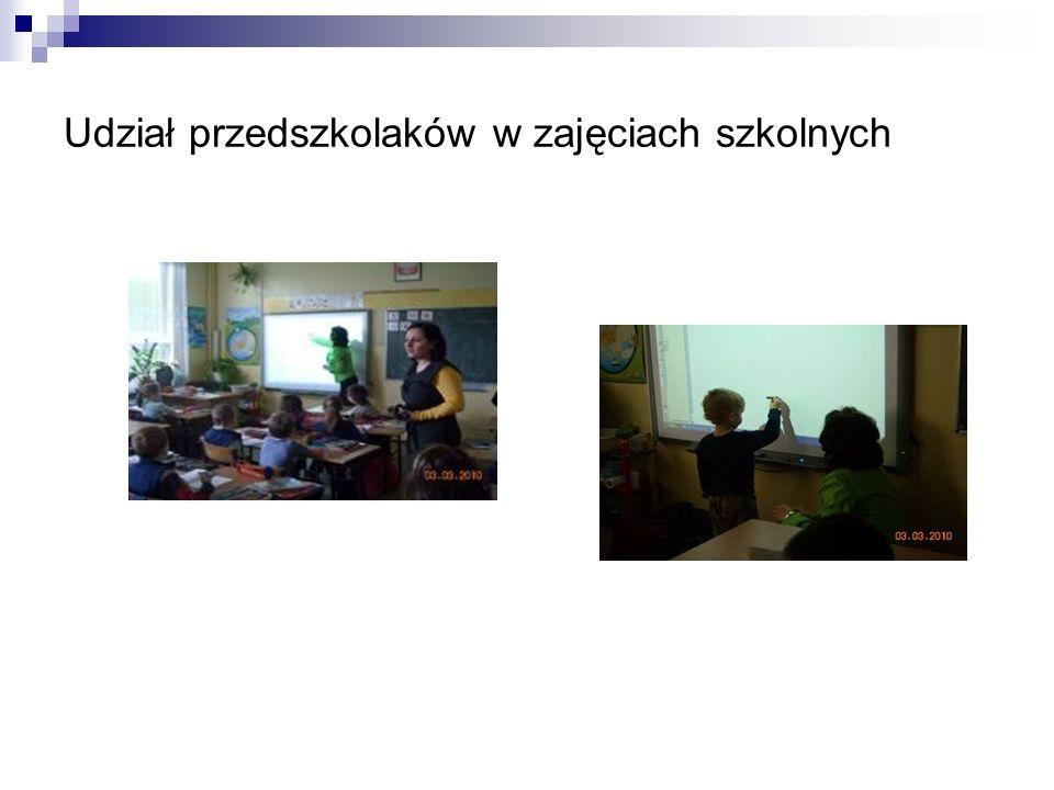 Udział przedszkolaków w zajęciach szkolnych