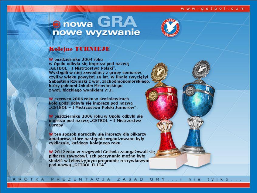 Kolejne TURNIEJE W październiku 2004 roku w Opolu odbyła się impreza pod nazwą GETBOL - I Mistrzostwa Polski