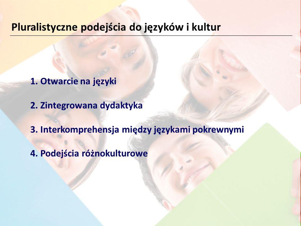 1. Otwarcie na języki 2. Zintegrowana dydaktyka 3. Interkomprehensja między językami pokrewnymi 4. Podejścia różnokulturowe Pluralistyczne podejścia d