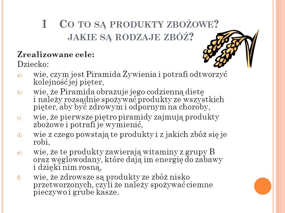 W SPÓŁPRACA Z RODZICAMI Projekt Zboża zjadamy, energię z nich mamy został przedstawiony rodzicom 22 listopada 2013 r.
