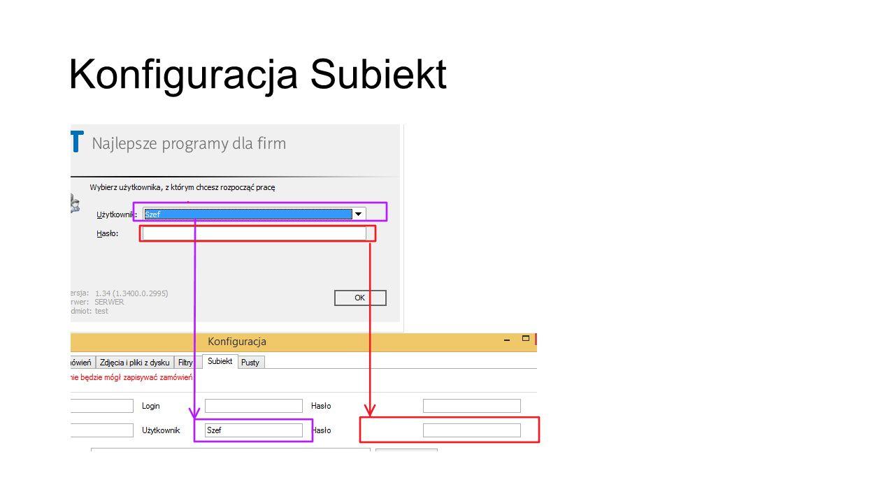 Konfiguracja Subiekt