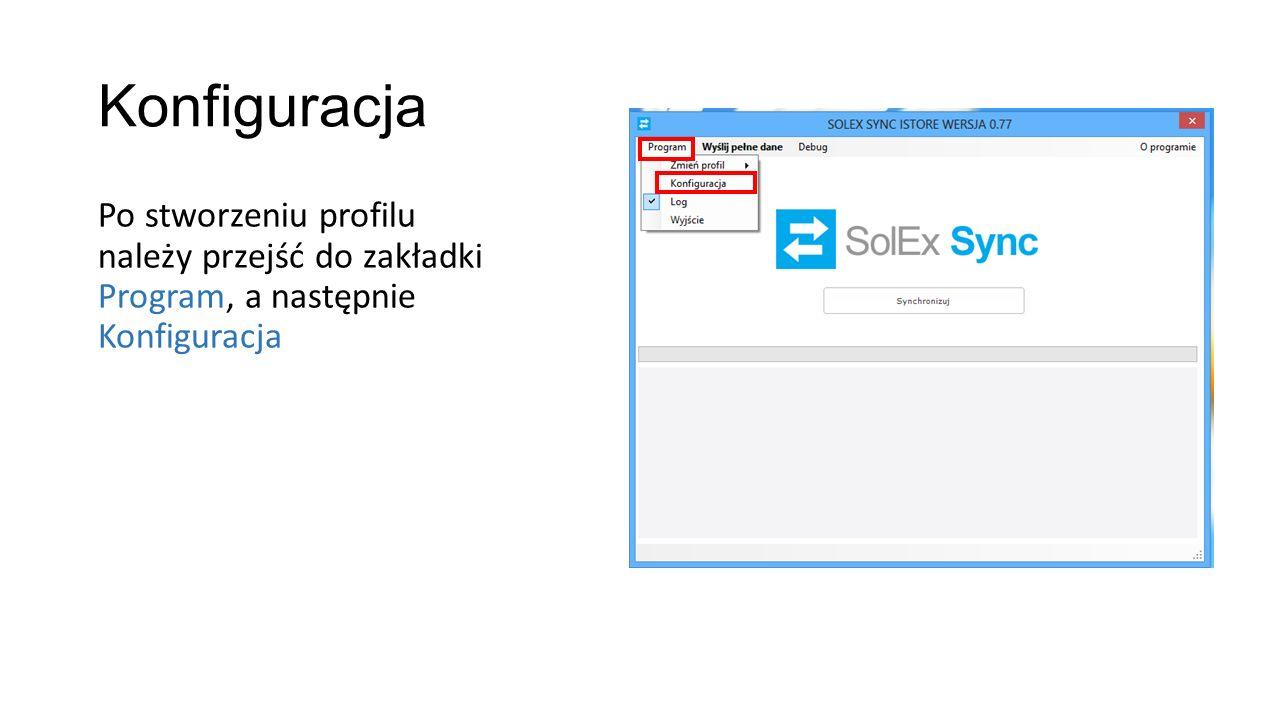 Wybór modułów do synchronizacji W zakładce Moduły należy zaznaczyć synchronizaowane moduły: - Subiekt - Istore Aby ustawienia zapisały się należy użyć klawisz Zapisz, a następnie zamknąć programi uruchomic go ponownie