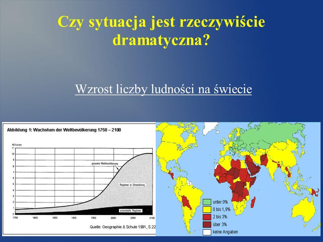 Czy sytuacja jest rzeczywiście dramatyczna? Wzrost liczby ludności na świecie