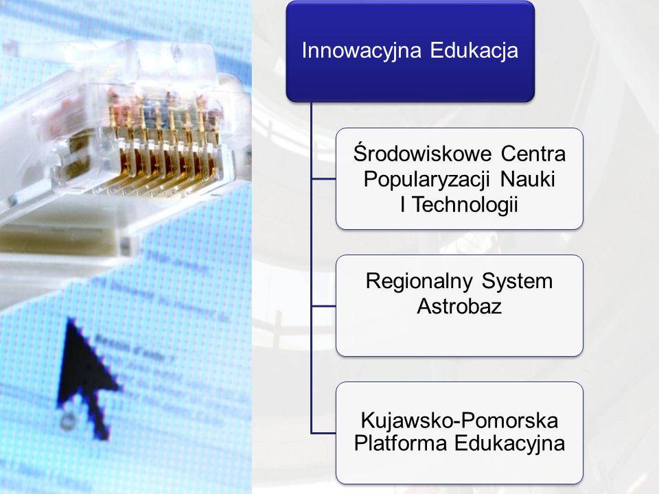 Innowacyjna Edukacja Środowiskowe Centra Popularyzacji Nauki I Technologii Regionalny System Astrobaz Kujawsko-Pomorska Platforma Edukacyjna
