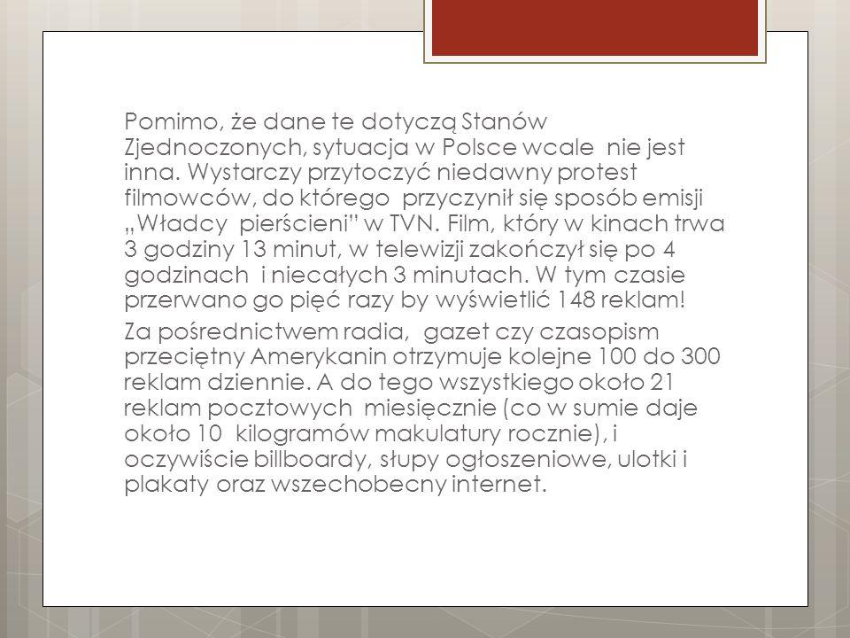 Pomimo, że dane te dotyczą Stanów Zjednoczonych, sytuacja w Polsce wcale nie jest inna.