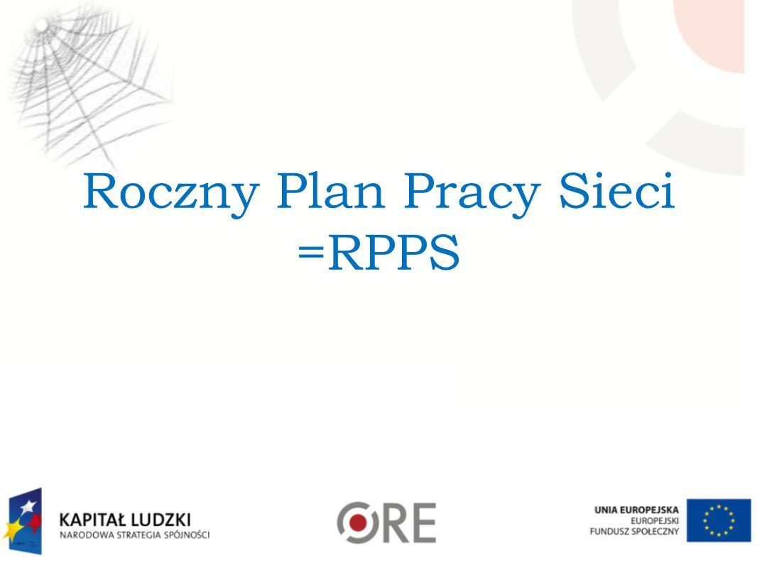 Roczny Plan Pracy Sieci =RPPS