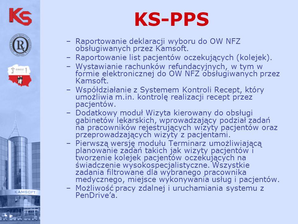 –Raportowanie deklaracji wyboru do OW NFZ obsługiwanych przez Kamsoft.